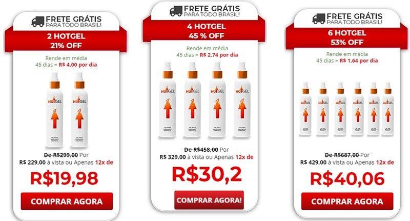 HotGel preço